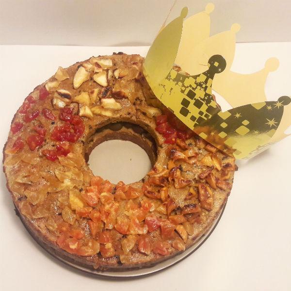 Roscón de Reyes (sin cereales, sin gluten, sin azúcar)